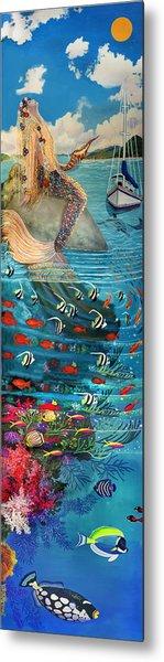 Mermaid In Paradise Metal Print