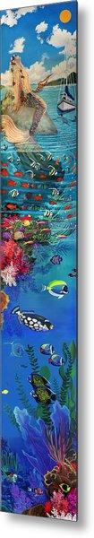 Mermaid In Paradise Complete Underwater Descent Metal Print