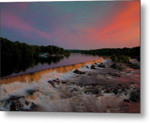 Merrimack River Falls Metal Print