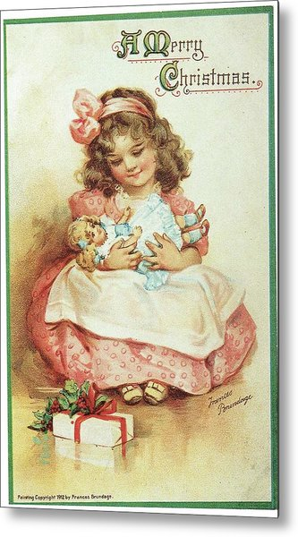 Merry Christmas For My Dolly Metal Print