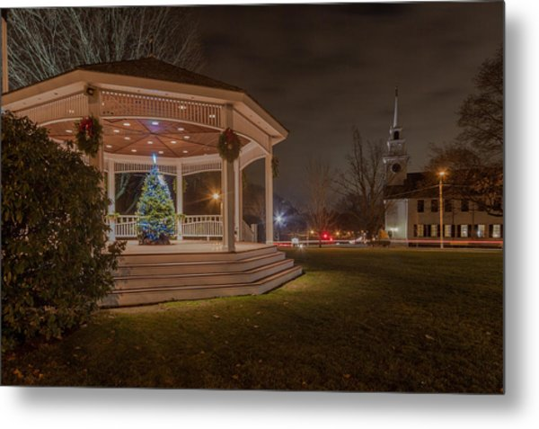 Merry Christmas From Milton Massachuetts Metal Print