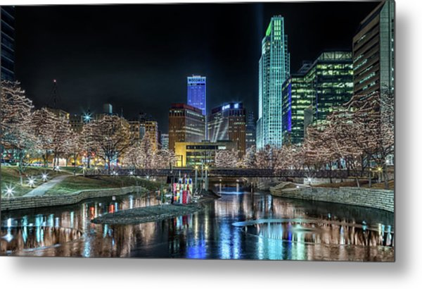 Metal Print featuring the photograph Merry Christmas Omaha by Susan Rissi Tregoning