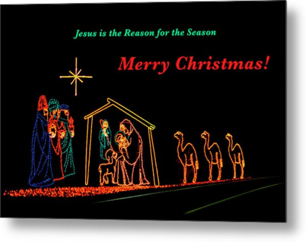 Metal Print featuring the photograph Merry Christmas by Penny Lisowski
