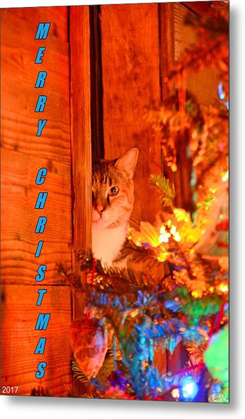 Metal Print featuring the photograph Merry Christmas Waiting For Santa by Lisa Wooten