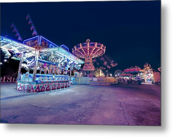 Merry Go Creepy Metal Print