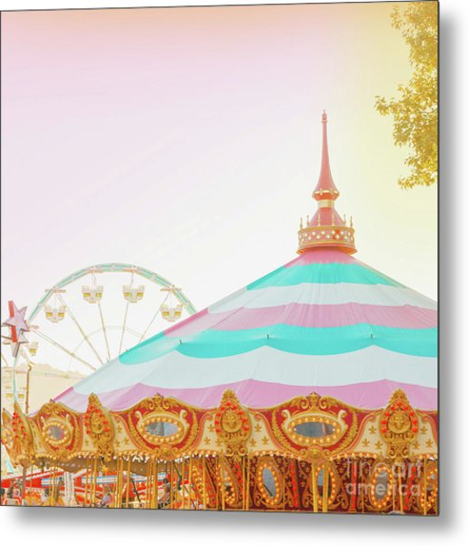 Metal Print featuring the photograph Merry-go-round by Cindy Garber Iverson