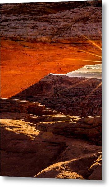 Mesa Arch Triptych Panel 1/3 Metal Print