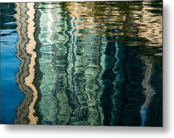 Mesmerizing Abstract Reflections Two Metal Print