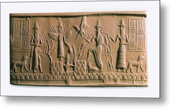 Mesopotamian Gods Metal Print
