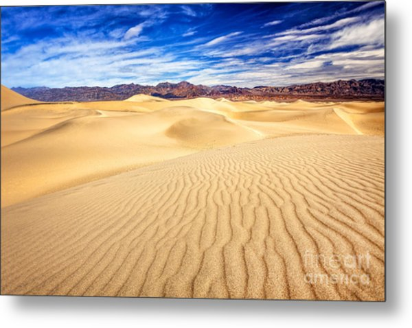 Mesquite Flat Sand Dunes In Death Valley Metal Print