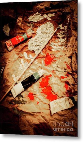 Messy Painters Palette Metal Print