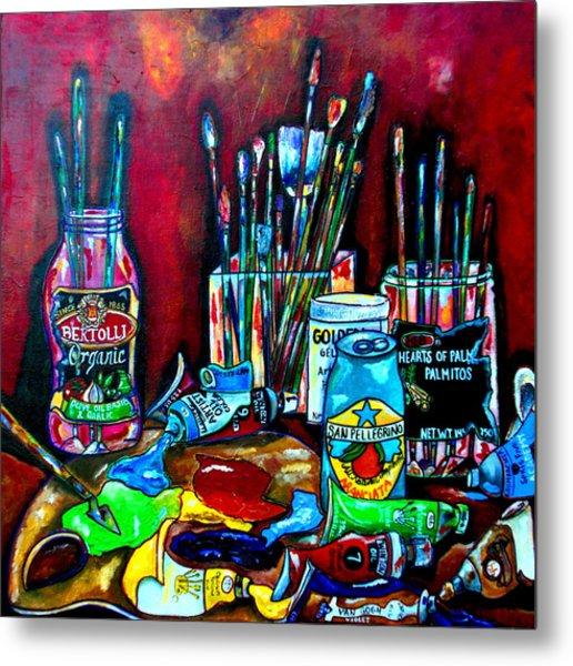 Messy Paints II Metal Print by Patti Schermerhorn