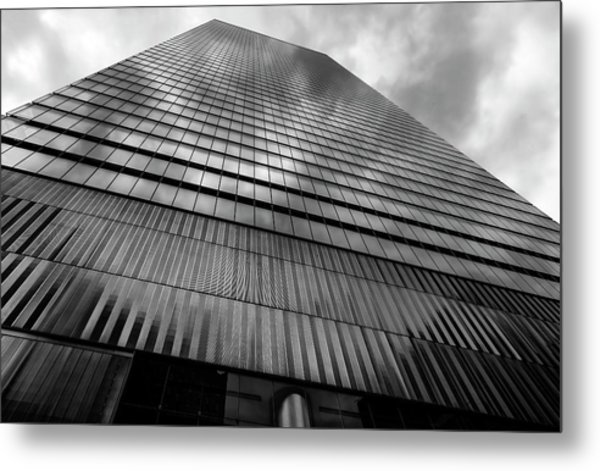 Metal And Glass High Rise Metal Print by Robert Ullmann