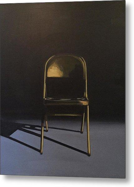 Metal Folding Chair Metal Print