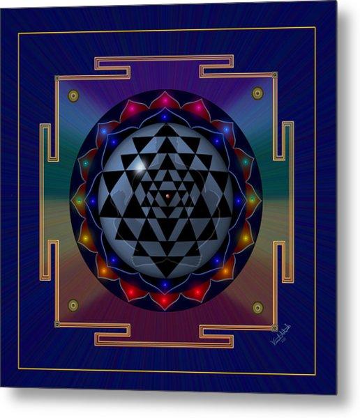 Metal Mandala Metal Print