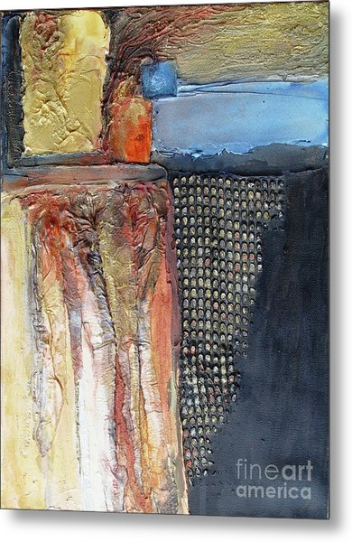 Metallic Fall With Blue Metal Print