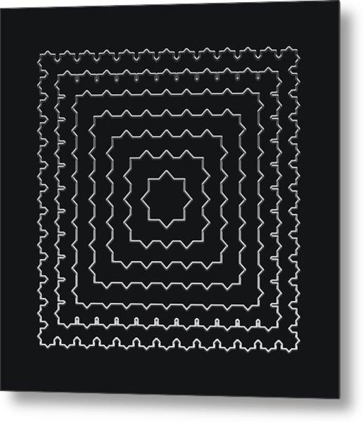 Metallic Lace Ai Metal Print