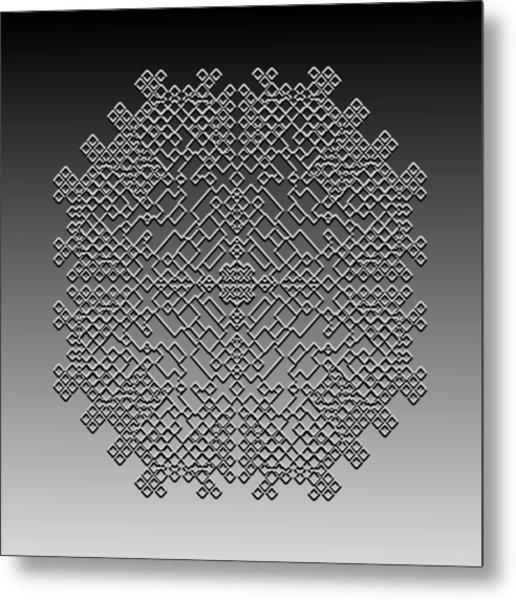 Metallic Lace Cxxix Metal Print