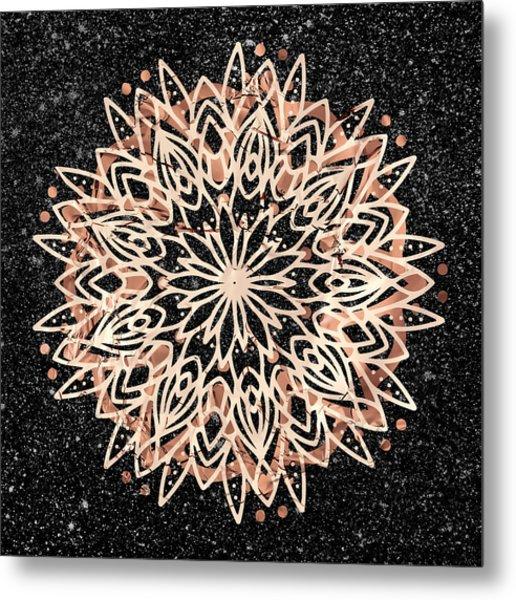Metallic Mandala Metal Print