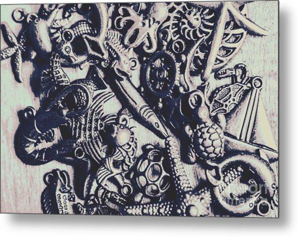 Metallic Seas Metal Print