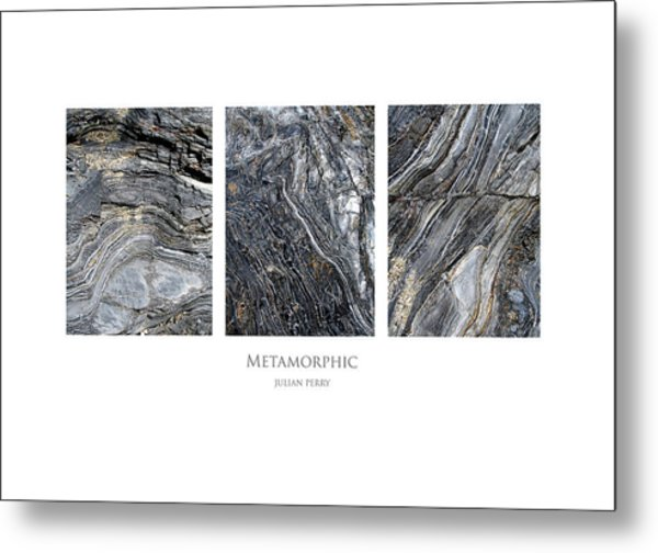 Metal Print featuring the digital art Metamorphic by Julian Perry