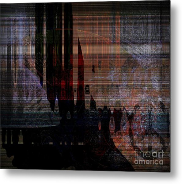 Metaphysical Formations Metal Print by Fania Simon