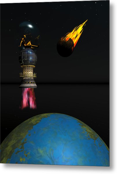 Meteor Chaser Metal Print by Claude McCoy