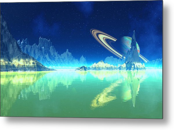 Methane Seas Of Titan Metal Print by David Jackson