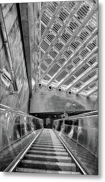 Metro Line 4 Structures, Budapest 3 Metal Print