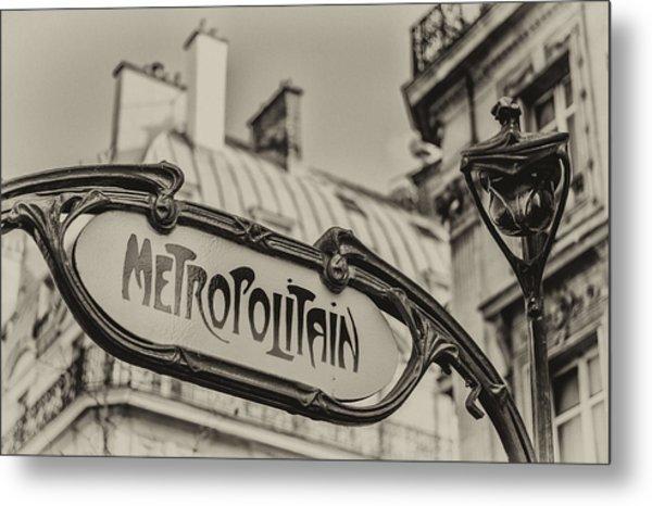 Metropolitain Metal Print