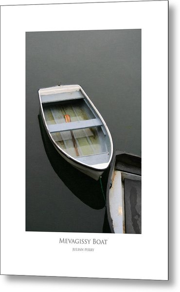 Metal Print featuring the digital art Mevagissy Boat by Julian Perry