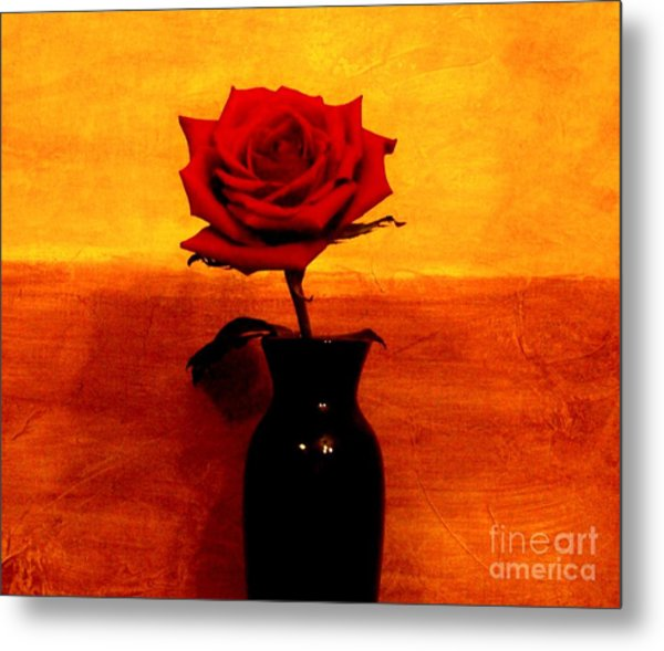 Mexicalli Rose Metal Print by Marsha Heiken