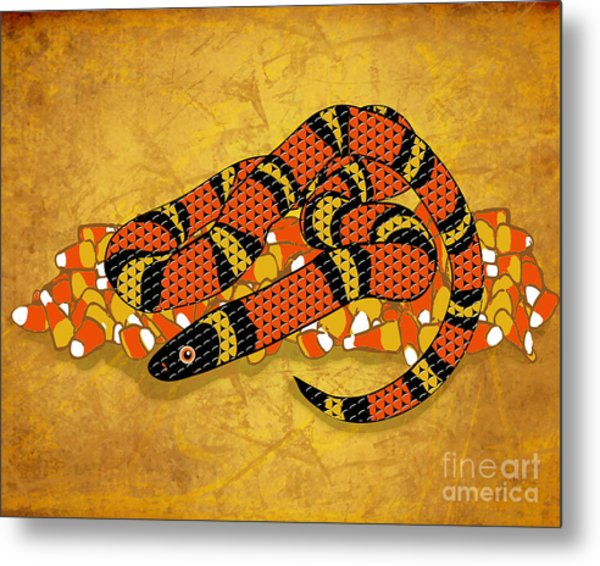 Mexican Candy Corn Snake Metal Print