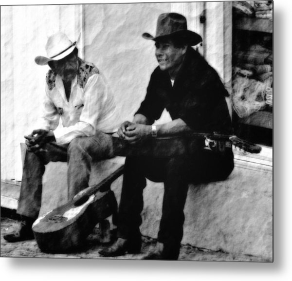 Mexican Cowboys Metal Print by Gina Cormier