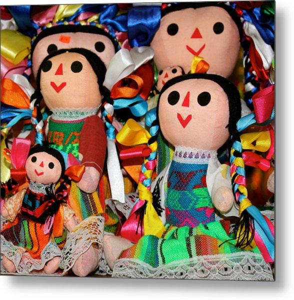 Mexican Dolls Metal Print
