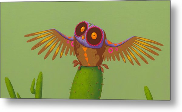 Mexican Owl Metal Print