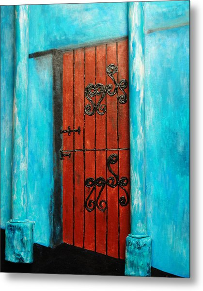 Mexican Turquoise Metal Print