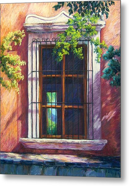 Mexico Window Metal Print by Candy Mayer