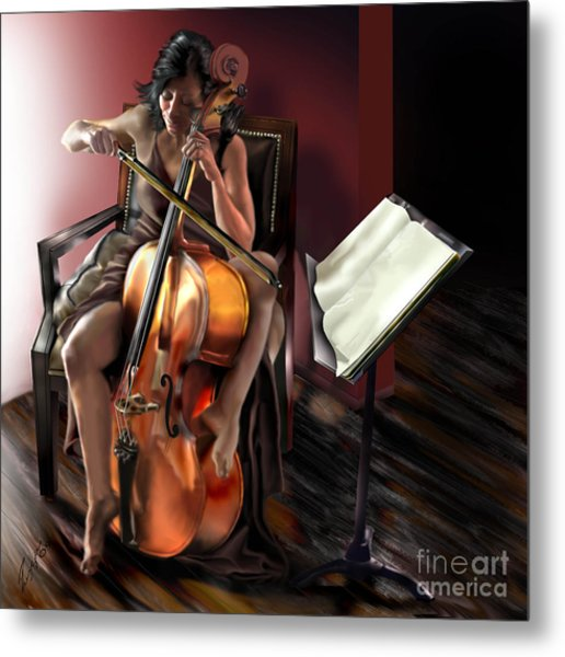 Mi Chica - Solace In The Unseen Metal Print