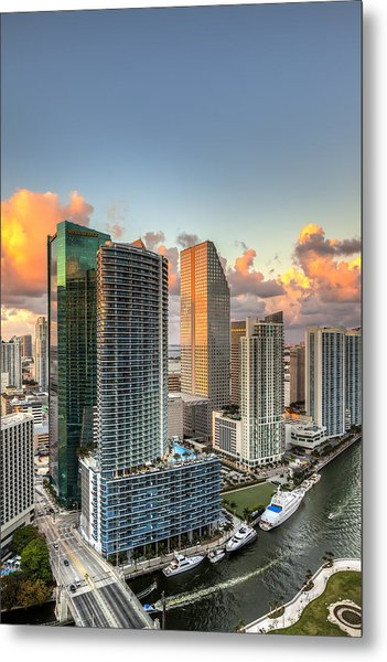 Miami Bayside Metal Print