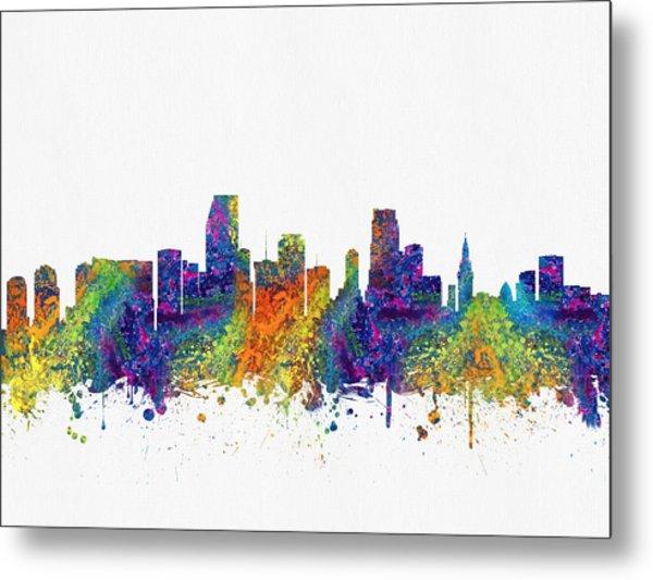 Miami Florida Skyline Color03 Metal Print