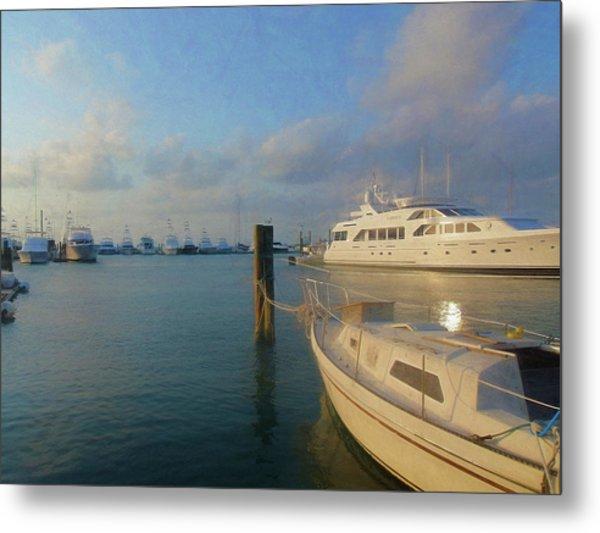 Miami Harbor Metal Print by JAMART Photography