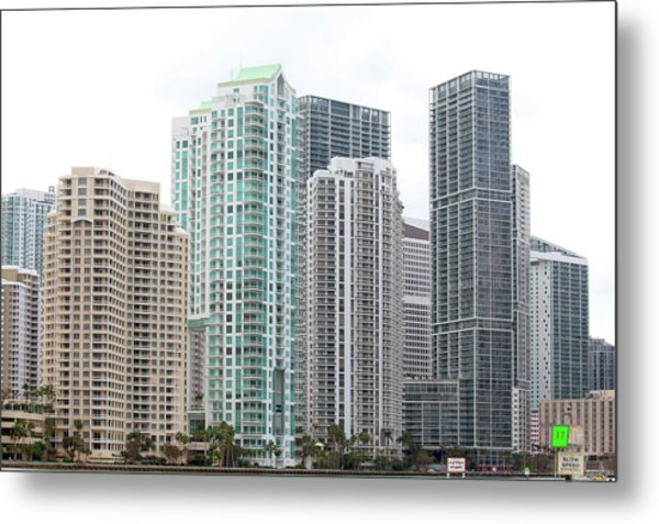 Miami Highrises Metal Print