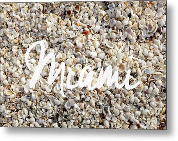 Miami Seashells Metal Print