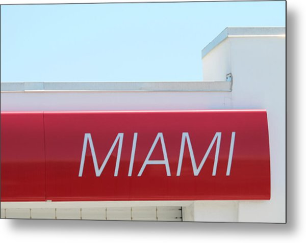 Miami Sign Metal Print