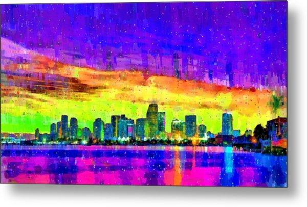Miami Skyline 150 - Pa Metal Print