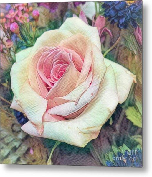 Mia's Rose Metal Print