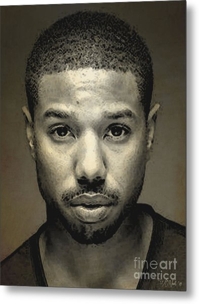 A Portrait Of Michael B. Jordan Metal Print