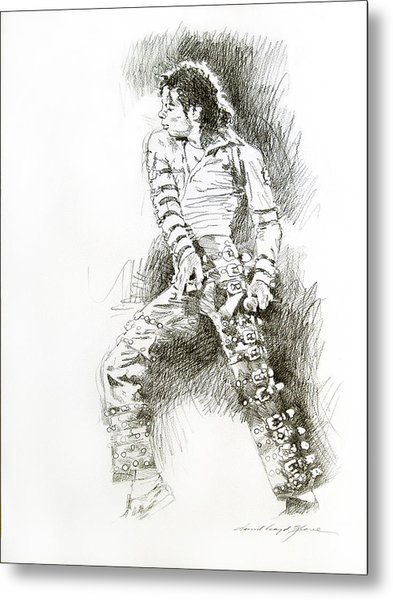 Michael Jackson - Onstage Metal Print by David Lloyd Glover