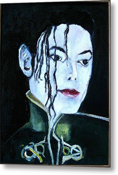 Michael Jackson 2 Metal Print by Udi Peled